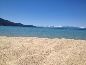 Zipped up to the lake today.  Water's clear and still cold, but the sand was warm.